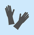 Latex Rubber Gloves vector image vector image