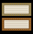 marquees frame with diamonds vector image vector image