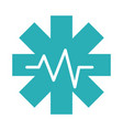 medical health care pulse science assistance flat vector image vector image