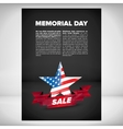 Memorial day banner design vector image vector image