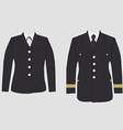 Military uniform set vector image vector image