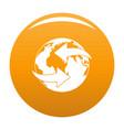 moving earth icon orange vector image