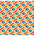 multicolor geometric rhombus seamless pattern vector image