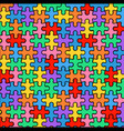 multicolored background from puzzles vector image