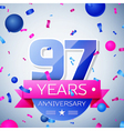 Ninety seven years anniversary celebration on grey vector image vector image