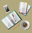 note paper with drawing business strategy plan vector image vector image