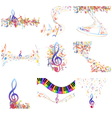 Notes 9 set vector image vector image