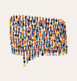 people group in social chat icon for communication vector image vector image