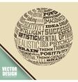 planet words design vector image