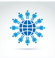 Population of the world society symbol conceptual vector image