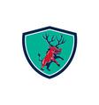 Razorback Antlers Prancing Crest Retro vector image vector image