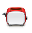 red toaster kitchen equipment vector image