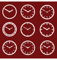 red watch dials eps10 vector image vector image