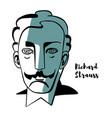 richard strauss portrait vector image vector image