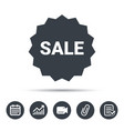 sale icon special offer star sign vector image vector image