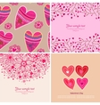 set four happy valentines day backgrounds vector image vector image