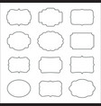 set of frames isolated on white background vector image