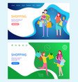 shopping buiness teamwork and benefits vector image vector image