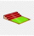 small football stadium icon cartoon style vector image vector image