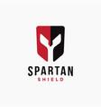 spartan shield logo icon template vector image
