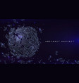 sphere particles background futuristic banner vector image