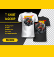 t-shirt template fully editable with vintage quad vector image vector image