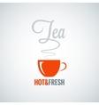 tea cup flavor background vector image vector image