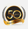 template 50 years anniversary vector image vector image