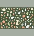 terrazzo seamless pattern granite fragments vector image vector image
