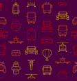 transport thin line seamless pattern background vector image vector image