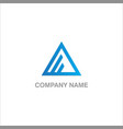 triangle line logo vector image vector image