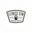 vintage fitness gym logo retro styled sport vector image
