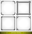 Vintage frames set for design vector image vector image
