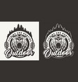 vintage monochrome hunting round logo vector image vector image
