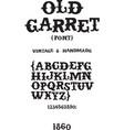 Vintage western font vector image vector image