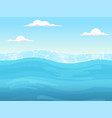 water game seamless liquid blue surface vector image