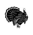 Wild Turkey Retro vector image vector image