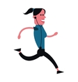 woman running with music player icon vector image