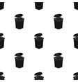 yogurt in the plastic cup icon in black style vector image vector image