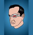 a face a cyborg vector image vector image