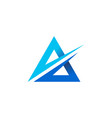 a letter triangle logo icon vector image