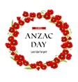 A wreath of poppies vector image