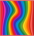 abstract colorful rainbow waves vector image