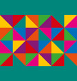 abstract triangles colorful geometric background vector image vector image
