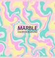 abstraction of stylish colorful creative marble vector image