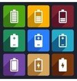 Battery flat icons set 22 vector image vector image