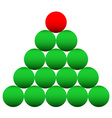 Beads Cristmas tree vector image vector image