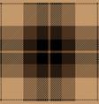 beige and black tartan plaid seamless pattern vector image vector image