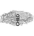 best pet picks for kids text word cloud concept vector image vector image