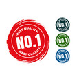 best quality number one rubber stamps set vector image